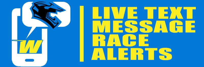 Live Text Message Race Alerts