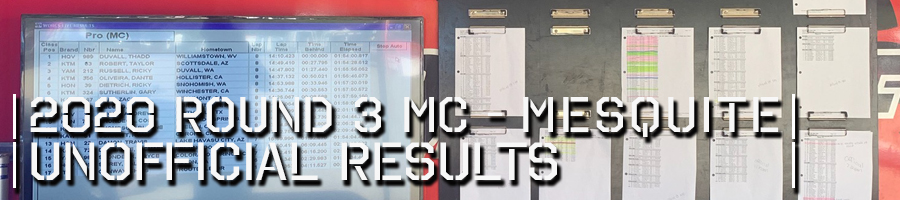2020 Round 3 MC Unofficial Results Board
