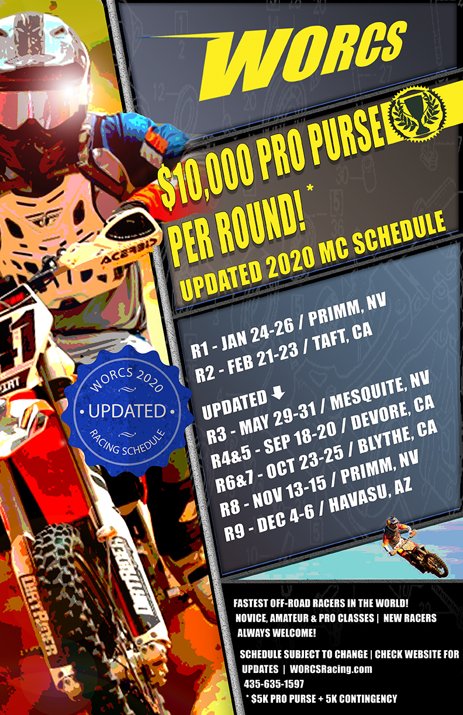 2020 WORCS MC Schedule - Updated 7-13-2020