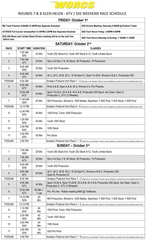 2021 R-7 & 8 ATV SXS Glen Helen Race Weekend