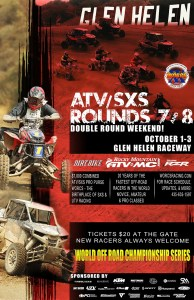 2021 Round 7 8 ATV SXS Glen Helen Event Flyer