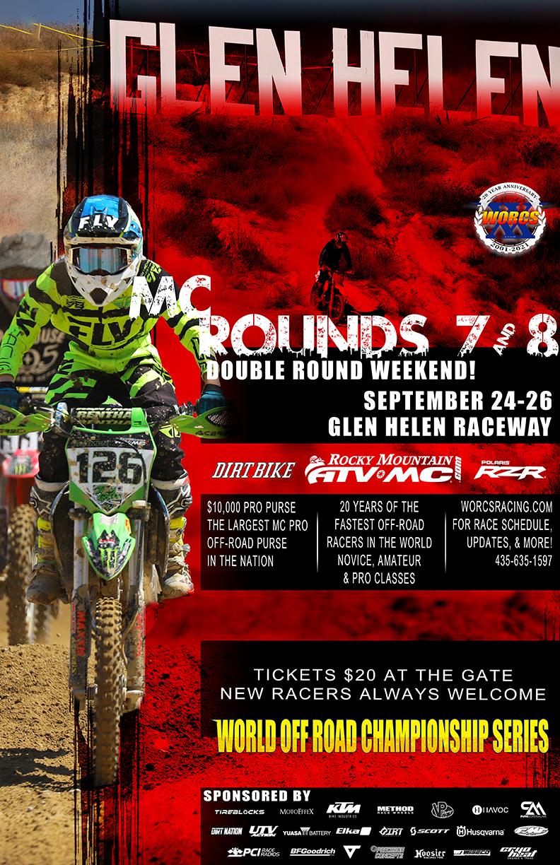 2021 Round 7 8 MC Glen Helen Event Flyer