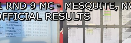 2021 RND 9 MC UNOFFICIAL RESULTS BOARD