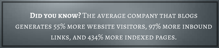 blogging generates more visits
