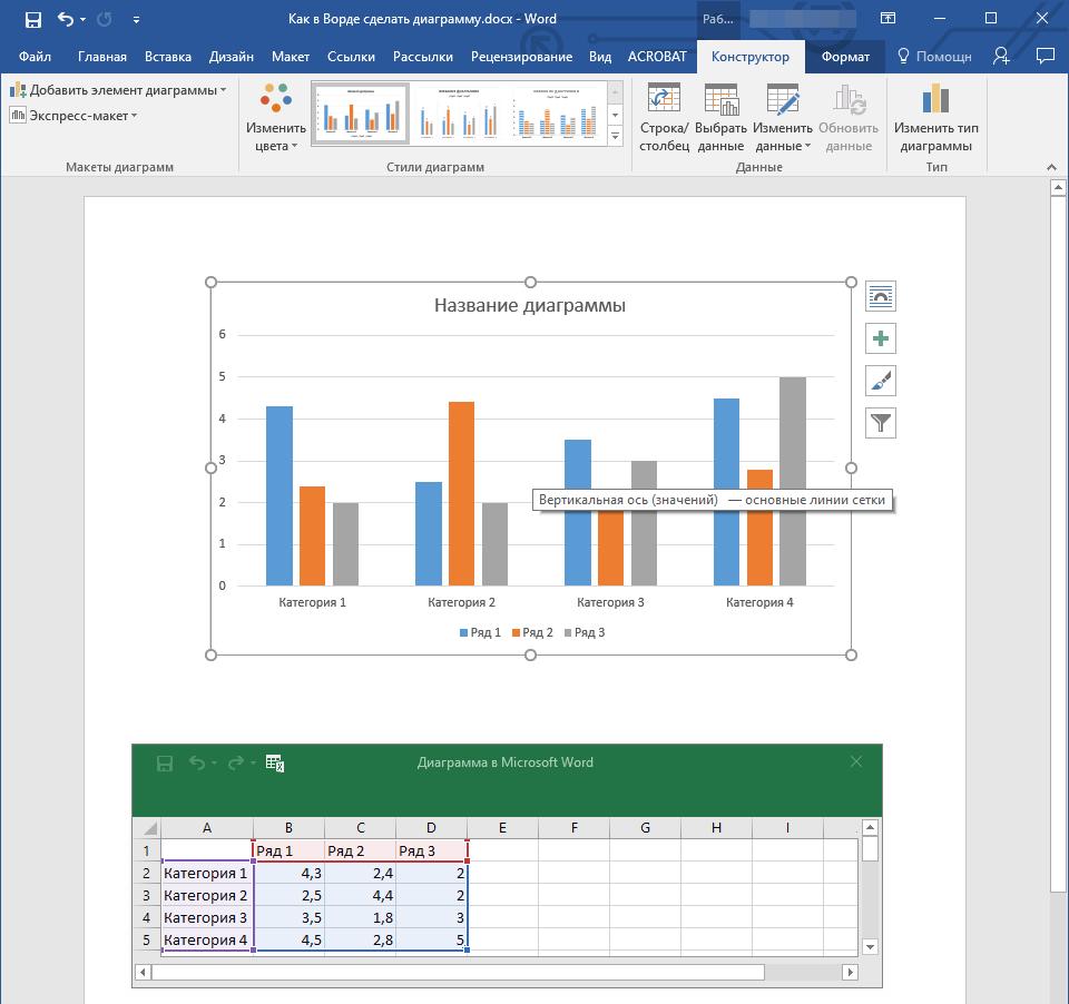 Prezentarea datelor într-o diagramă sau într-o reprezentare grafică - Word