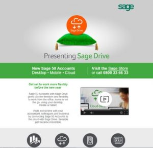 Sage 50 Accounts with Sage Drive advert