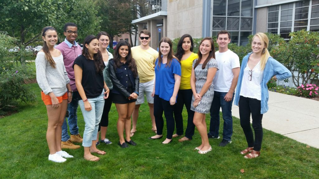Panciera's Multimedia Journalism class at Boston University (2014).