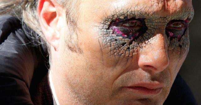 A closeup of Mad Mikkelsen's eye makeup in Doctor Strange.