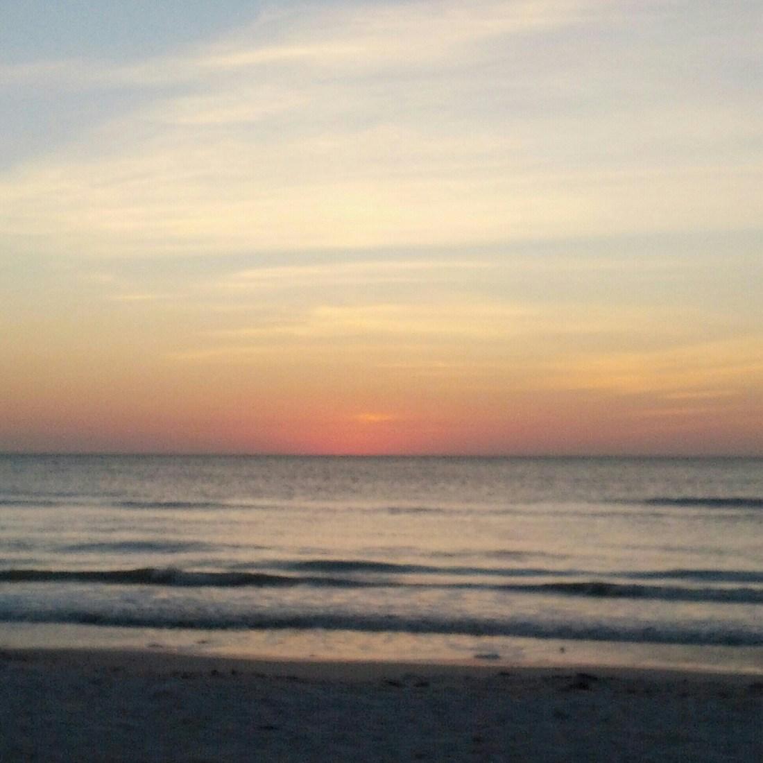 ocean view at sunset