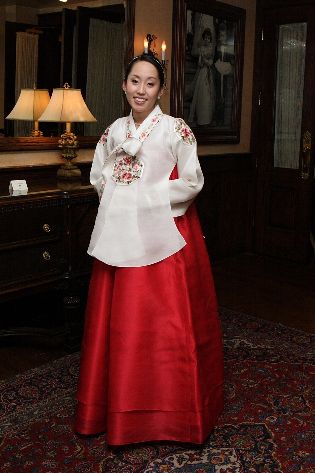 Grace in her traditional Korean dress