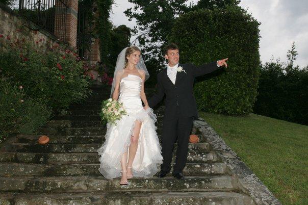 Kim and her groom