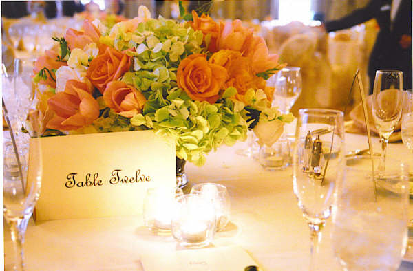 Table settings with individual cards
