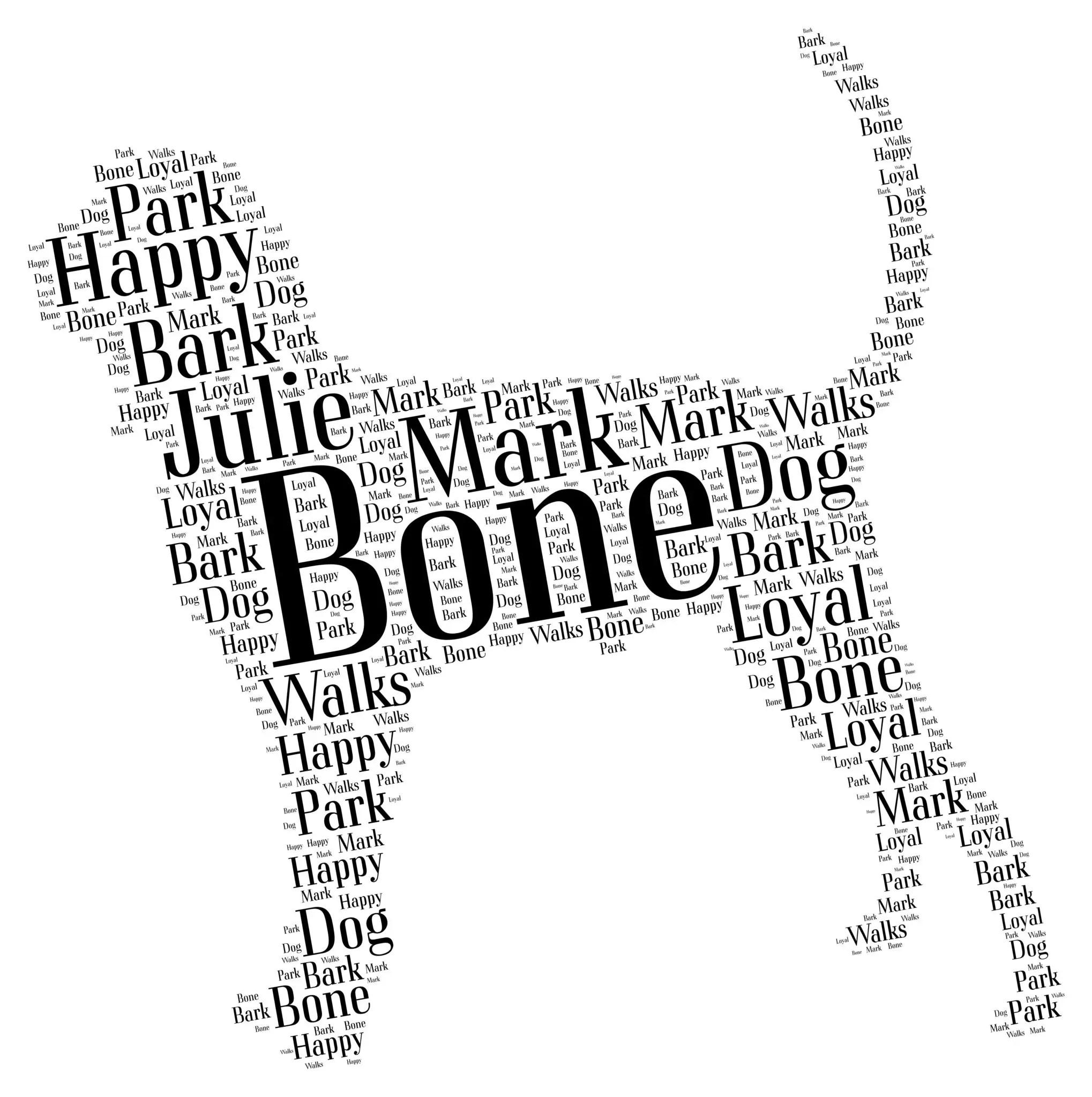 Black And Tan Coonhound Art Word Art Prints