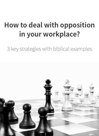 How to deal with opposition