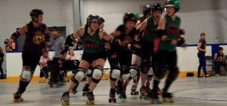 Mod Broad, E-Val, and Cuddles to Pieces block the opposing jammer.