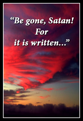 Image result for Jesus beat the devil with his word