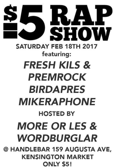$5 Rap Show 2017 Poster