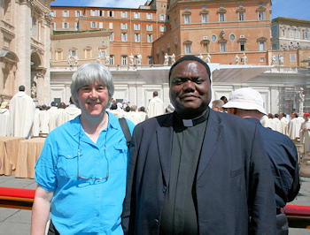Terry Modica & Fr. Joseph Kimu in Rome