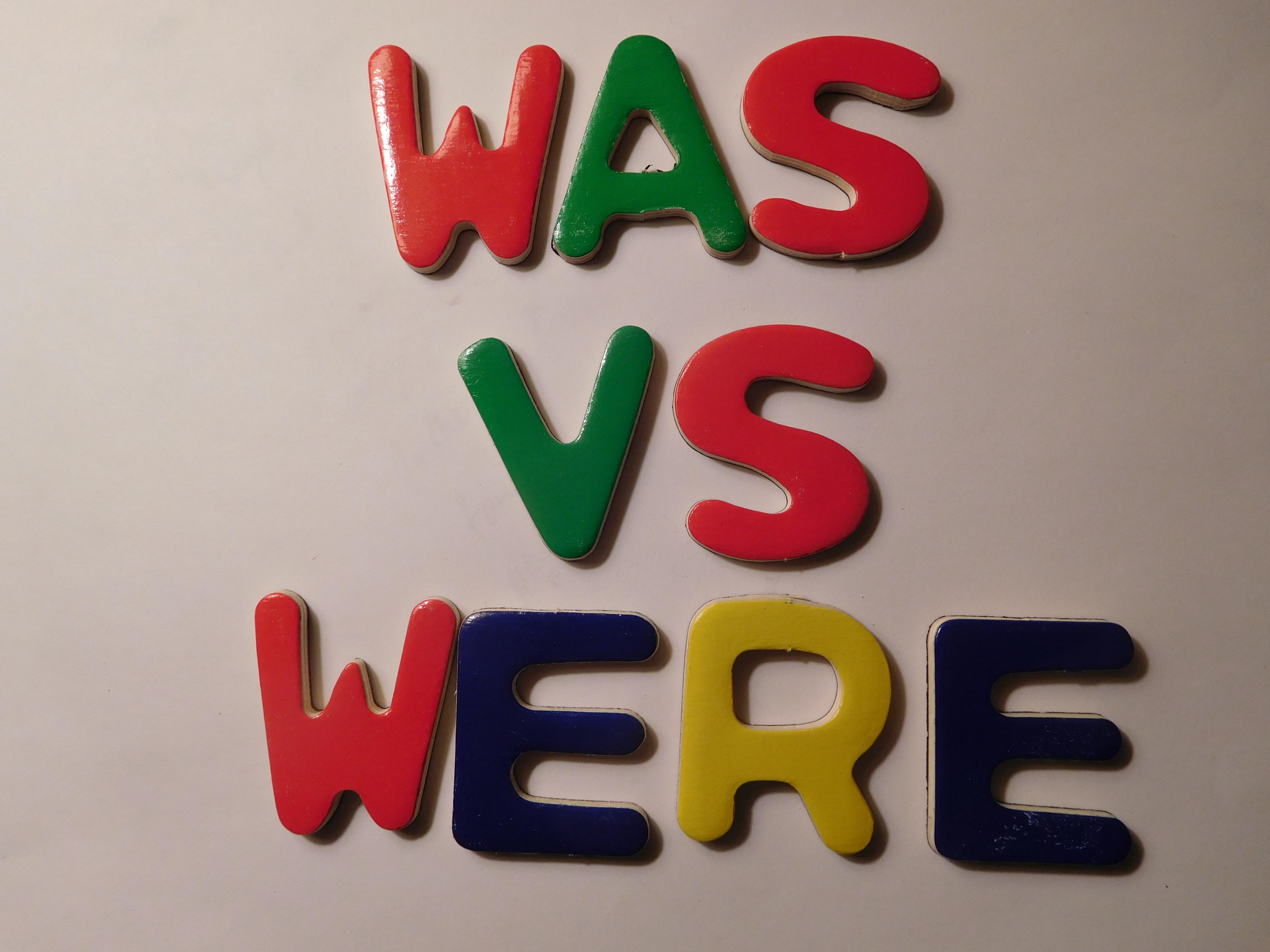 When To Use Was Versus Were