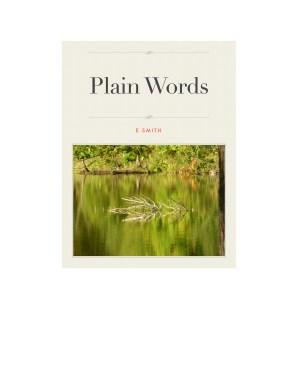 plain words cover