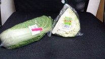 Chinese cabbage and plain ol' cabbage