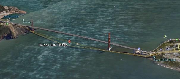google earth--golden gate bridge
