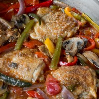 Chicken Cacciatore with Mixed Peppers