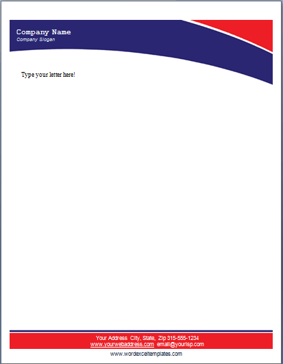 Ms Word Business Letterhead Templates  Word & Excel Templates