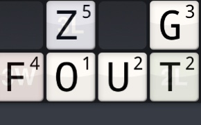 Twee letterwoorden in Wordfeud