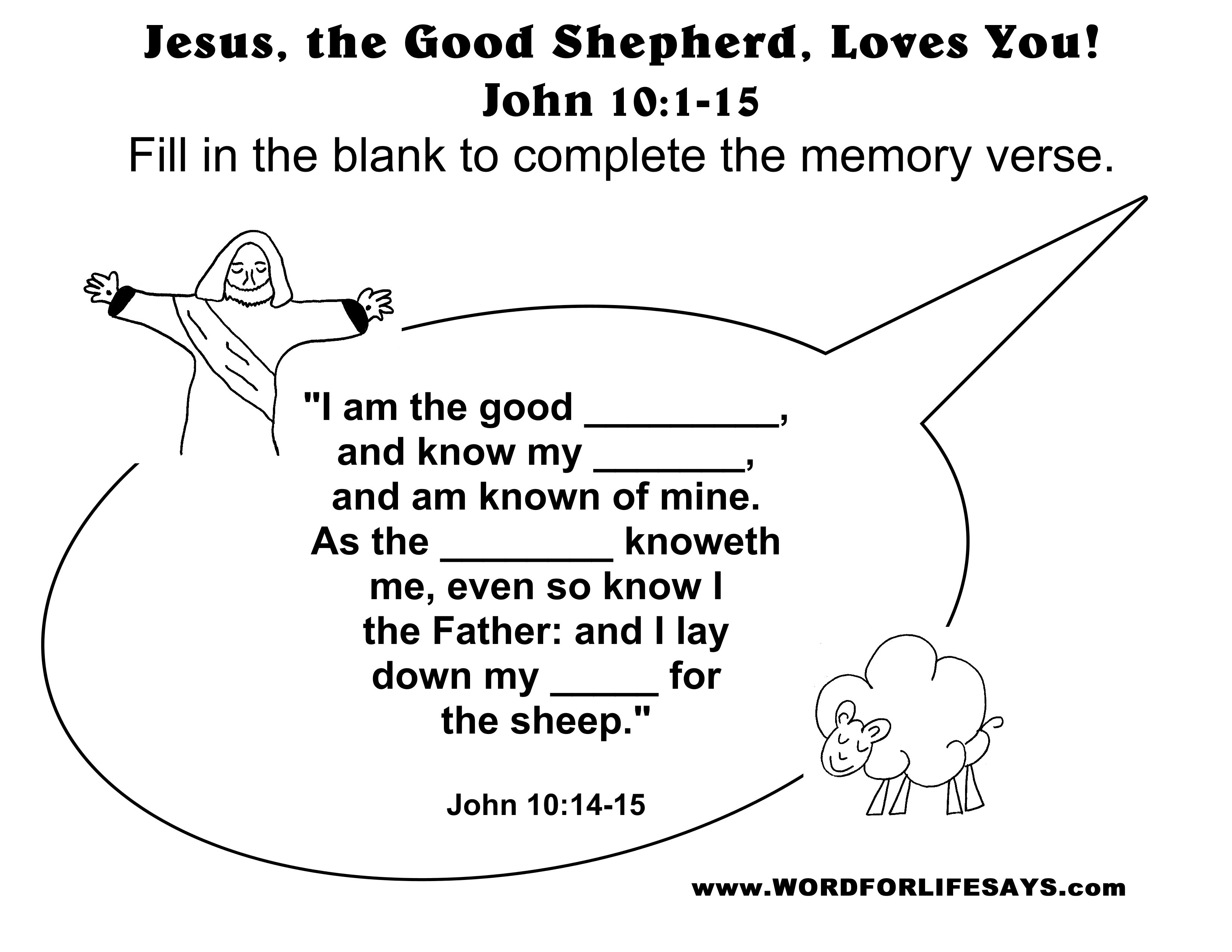 Luxury Jesus Is Our Good Shepherd Coloring Pages