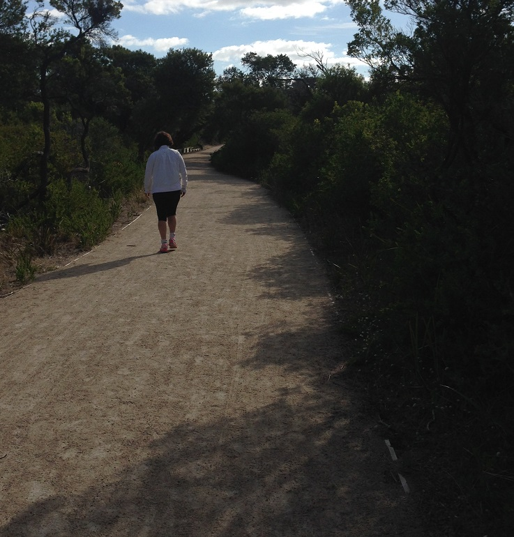 Enjoying the walking tracks at Pt Nepean