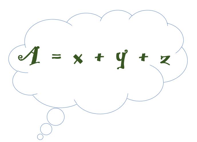 A=x+y+z