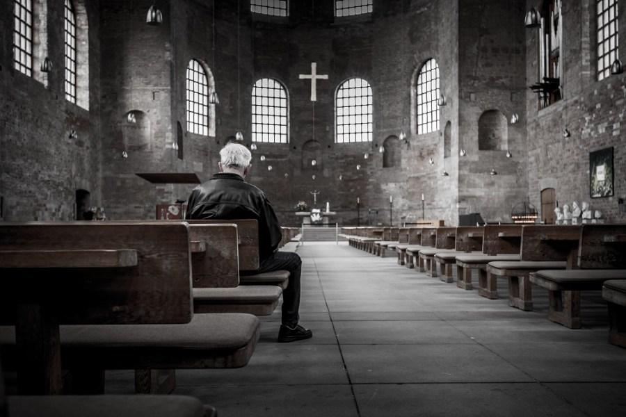 Man in church