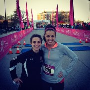 Cassie and I before beasting the Iron Girl half marathon.