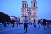 Our nighttime Notre Dame excursion.