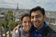 My favorite-us on top of the Arc de Triomphe : )