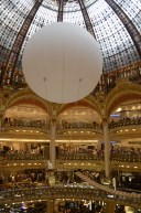 Inside of Galleries Lafayette, an enormous mall way too fancy for us.