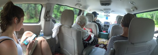 My journey to TN included a beautiful drive on Skyline Drive with my sister, parents, and grandparents. Full van!