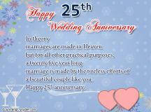 25th Wedding Anniversary Wishes, Messages and Wordings ...