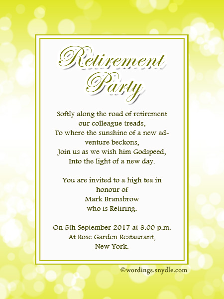 retirement announcements samples