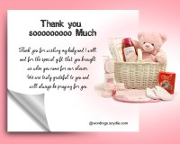 General Thank You Message For Baby Shower Gift - thank you ...