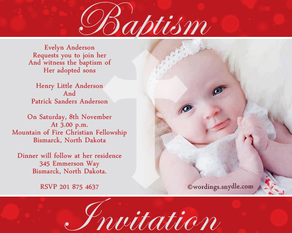 Christening Invitation Images