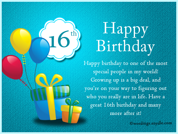 16th Birthday Wishes Messages And Greetings Wordings