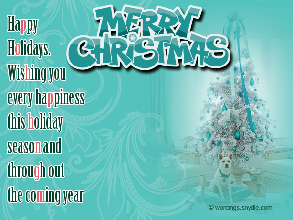 christmas message business merry