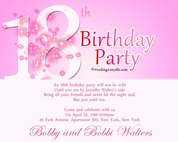 18th Birthday Invitation Card Designs – 18th Birthday Party Invitation
