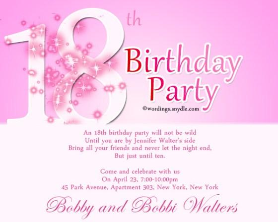 18th Birthday Invite Wording Images Invitation Design Ideas – 21st Birthday Party Invitation Wording