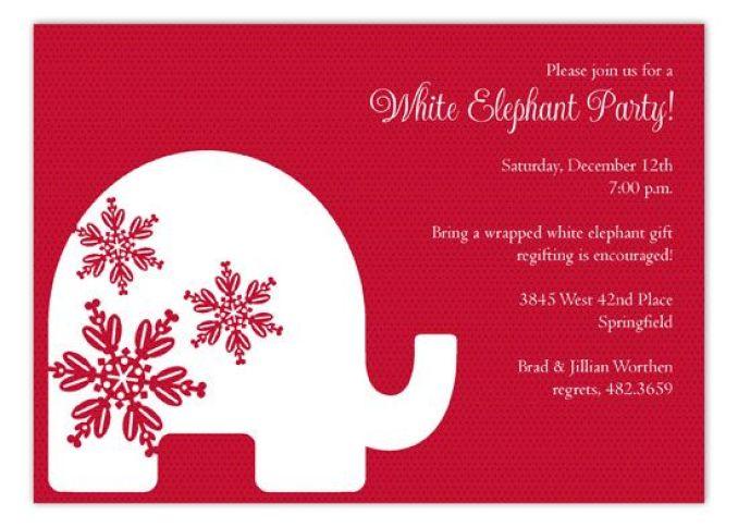 white elephant invites