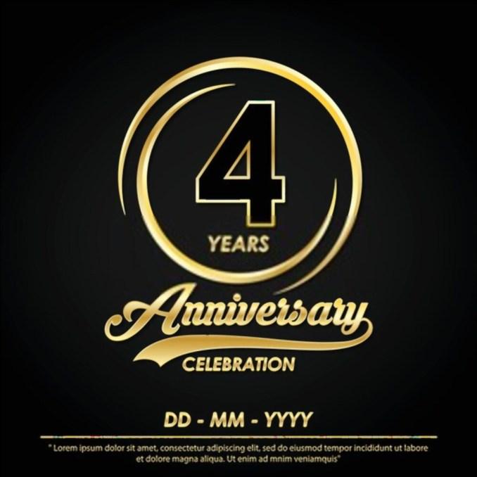 happy 4-years anniversary