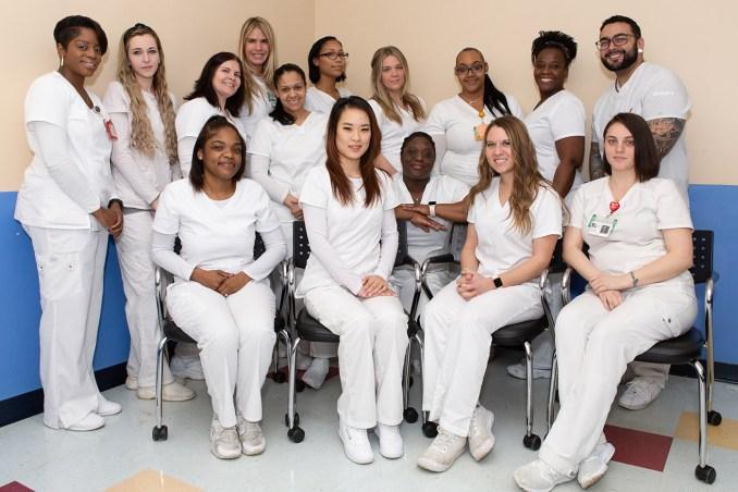 Nurses at Pinning Cerermony.