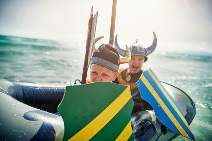 Viking Boys Playing
